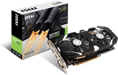 MSI NVIDIA GTX 1060 3GT OC 3 GB GDDR5 Graphics Card(Black)
