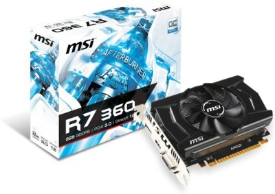 MSI AMD/ATI R7 360 2GD5 OC 2 GB GDDR5 Graphics Card(Black)