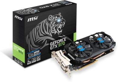 MSI NVIDIA GTX 970 4GD5T OC 4 GB GDDR5 Graphics Card