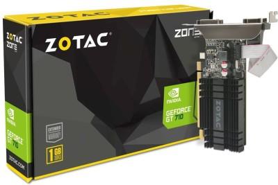 ZOTAC NVIDIA ZOTAC GT 710 1 GB DDR3 Graphics Card(Black)