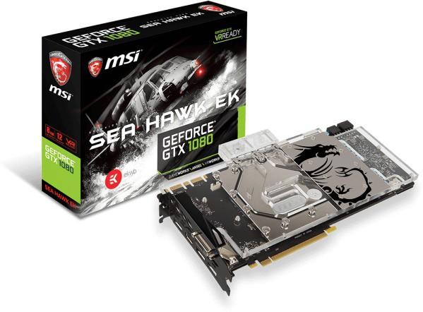 MSI NVIDIA GTX 1080 SEA HAWK EK X. 8 GB GDDR5X Graphics Card(Black)