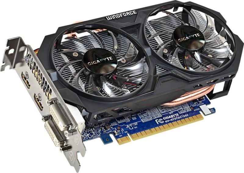 Gigabyte NVIDIA GV-N75TOC-2GI 2 GB GDDR5 Graphics Card
