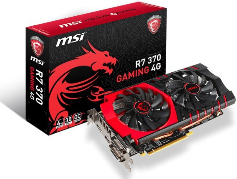 MSI AMD/ATI R7 370 GAMING 4G 4 GB GDDR5 Graphics Card(Black)