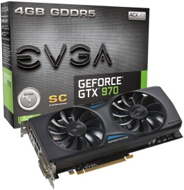 EVGA NVIDIA GeForce GTX 970 4 GB GDDR5 Graphics Card