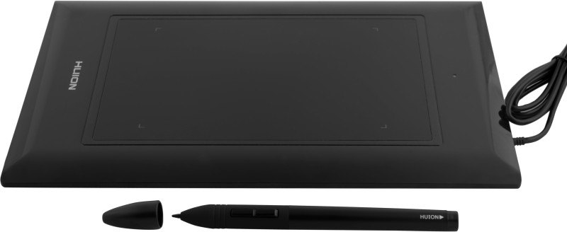 HUION Pen K46 4 x 6 inch Graphics Tablet(Black)