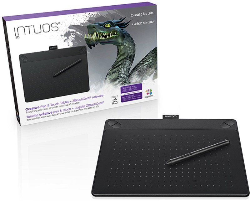 WACOM Intuos 3D CTH690/K3-CX 10.8 x 8.5 inch Graphics Tablet(Black)