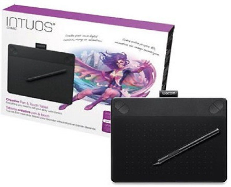 wacom INTUOS CTH-490/K1-CX 8.3 x 6.7 inch Graphics Tablet(Black)