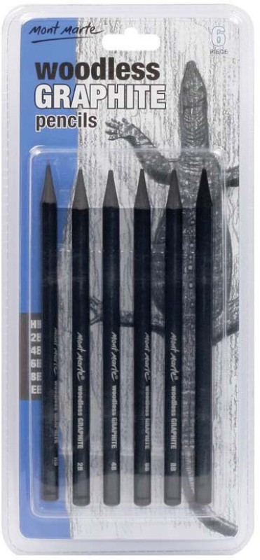 Mont Marte Graphite 2B Pencil(Pack of 6)