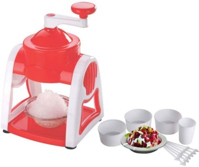 Skys&Ray Manual Gola Maker with Slush Maker and Ice Crusher Chopper009 white, red Kitchen Tool Set