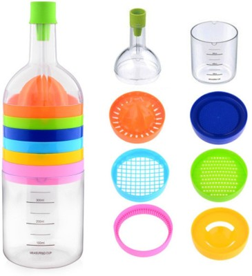 Ideale Multi Tool Bottle 8 in 1 Plastic Grater(Multicolor)