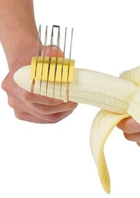Connectwide Plastic, Stainless Steel Banana Slicer