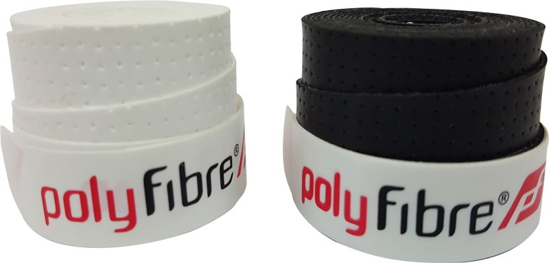 Polyfibre S.A.T Set Of 2 Super Tacky  Grip(Black, White, Pack of 2)