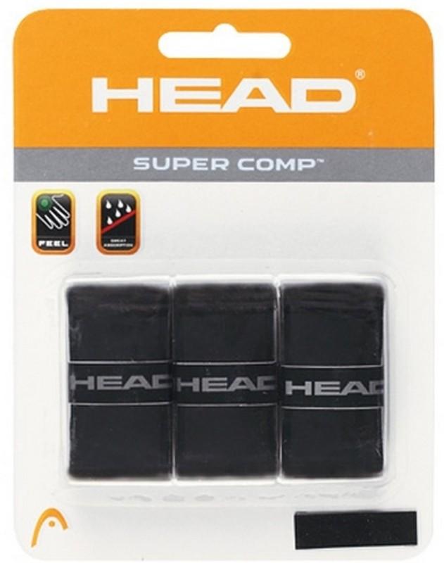 Head Super Comp Gripper(Black, Pack of 3)