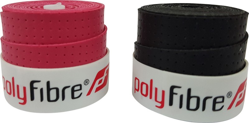 Polyfibre S.A.T Set Of 2 Super Tacky  Grip(Pink, Black, Pack of 2)