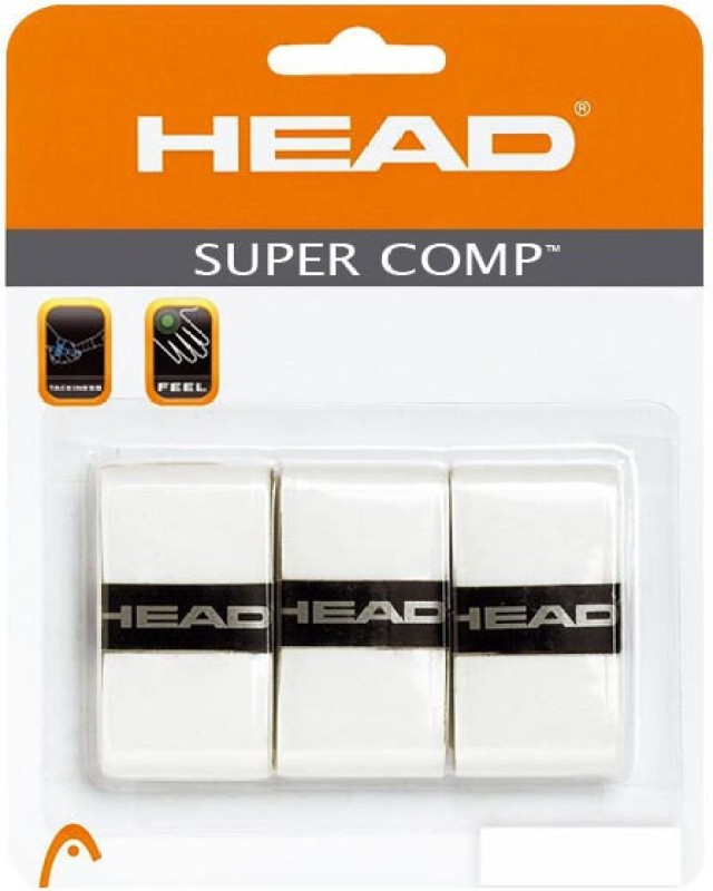 Head Super Comp Smooth Tacky  Grip(White, Pack of 3)