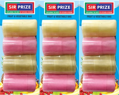 Sir Prize 12 Bags - Premium Vegetable Organiser Bags ( Reusable Fridge Bags / Net Bags ) ( 13 X 10 inch ) Pack of 12 Grocery Bags(Multicolor)