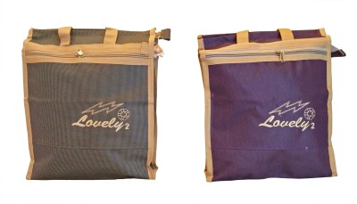Homekitchen99 CSM Combo of 2 Big Multipurpose Utility - Assorted Colors Pack of 2 Grocery Bags