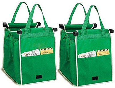 SRB Multipurpose storage organizer grocery bag Pack of 2 Grocery Bags(Green)