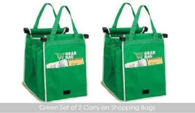 Tuzech Grab Bag set of 2 Pack of 2 Grocery Bags