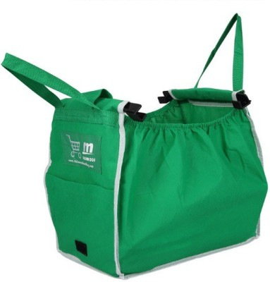 MK Grab Bag - Easy to Carry Reusable Foldable Grocery Bag(Green)