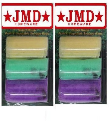 JMD HOMEWARE Pack of 6 Grocery Bags(Multicolor)