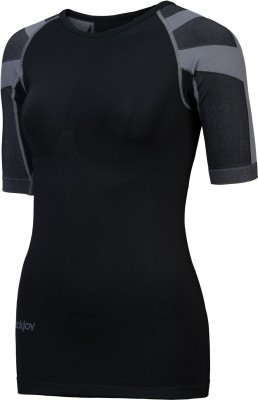 BackJoy Women's PostureWear Elite Comfort T shirt , Size M Gym(Black)