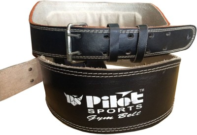 Pilot Sports Co Leather Weight Lifting Gym Belt Gym(Black)