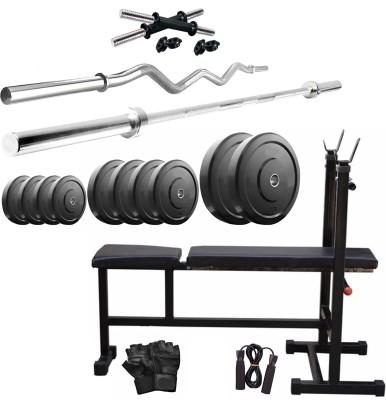 STAR X 30 KG COMBO adjustable home Gym(Black)