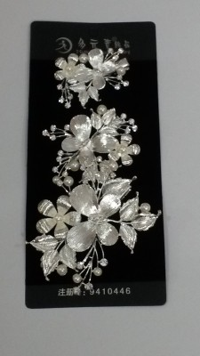 Blossom Berry Silver Butterfly Hair Clip
