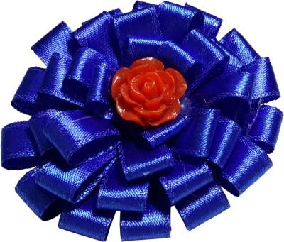 Apeksha Arts Blue Ribbon Brooch Hair Pin