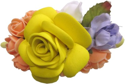 Apeksha Arts Floral Clutcher With Flowers Hair Claw