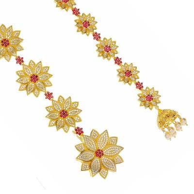 Kushals Fashion Jewellery Zircon Hair Chain