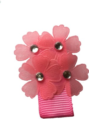 Bellazaara Multi-Flower With Rhinestone : Pink Hair Clip