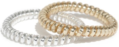 ToniQ Set of 2 Gold and Silver Twister Spiral Rubber Band