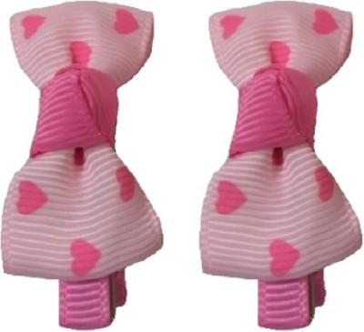 Angel Closet Heart Print Bow Hair Clip
