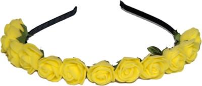 Idha Yellow Roses Valentine Hair Band