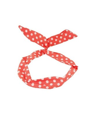 Young & Forever Polka Rabbit Ear Wired Head Band