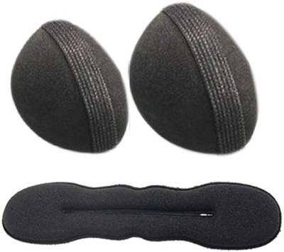 Pankh 1 Donut Bun Belt and 2 Puff Bun Hair Accessory Set(Black)