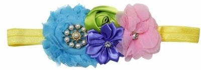 Pink & Blue India Big Flower with cute bow Head Band