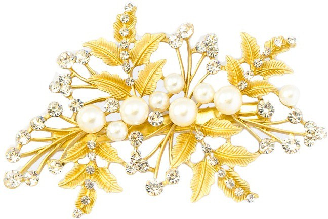 K.R.S. Jewels H15 Hair Clip(Yellow)