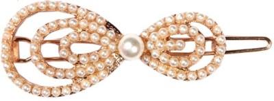 Crunchy Fashion Contemporary Pearl Bowknot Hair Clip