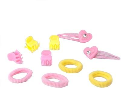 Addons Yellow Colour H-Pin+Scrhy+Bflyc Hair Pin