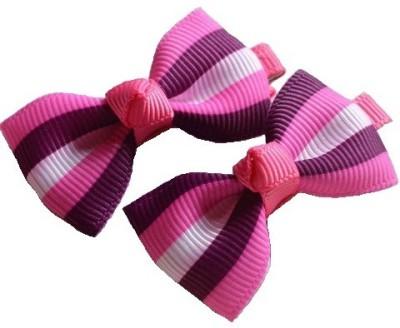 Angel Closet Striped Bow Hair Clip