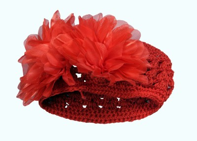Anch Exclusive Comfortable Red Nettted Floral Head Band