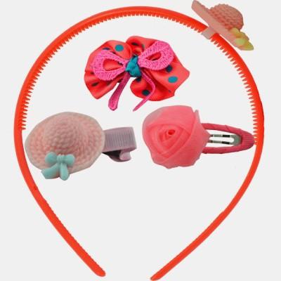 Angel Glitter Lil Orange Hat Combo Hair Accessory Set