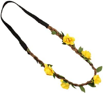 Aaishwarya Yellow Wild Flower Head Band