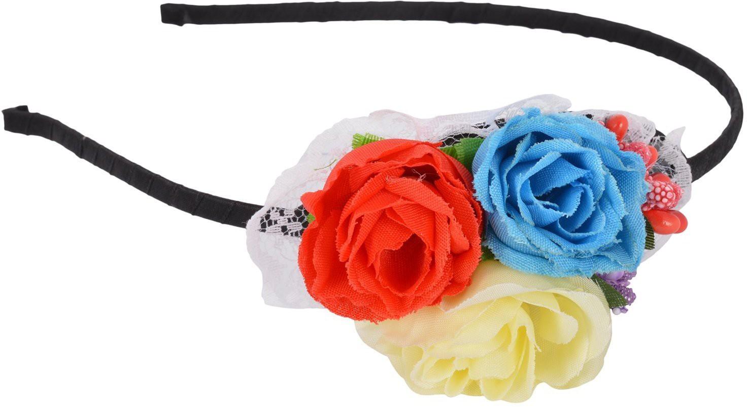 Sanjog Pretty Fabric Flower Girls Hair Band(Multicolor) best price on Flipkart @ Rs. 269