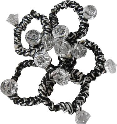 Adbeni Colourful Black & White Resham Thread Coated Good Choice Rubber Band