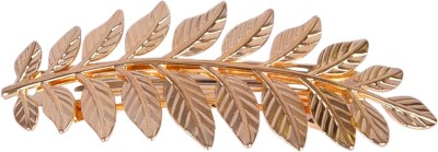 Aaishwarya Gold Plated Leaf design Hair Clip(Gold)