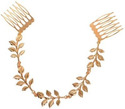 Young & Forever Golden Tassel Leaf Chain Hair Chain